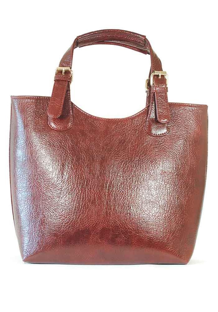 Бордовая женская сумка шопер 48-DIEGO-BORDO