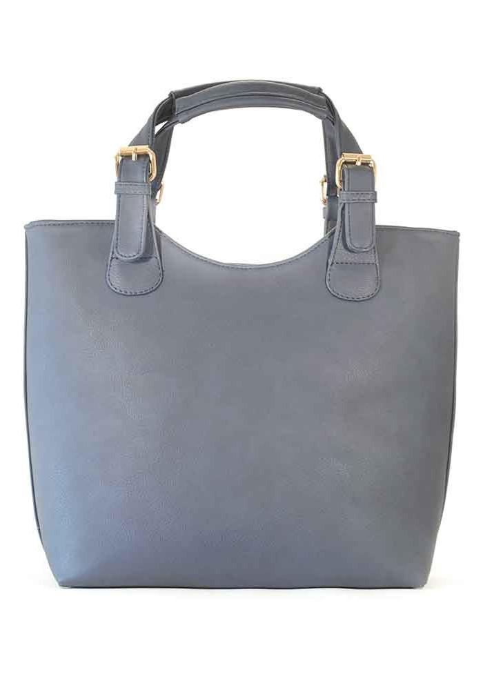 Фото Синяя матовая женская сумка шопер 48-MAT-BLUE