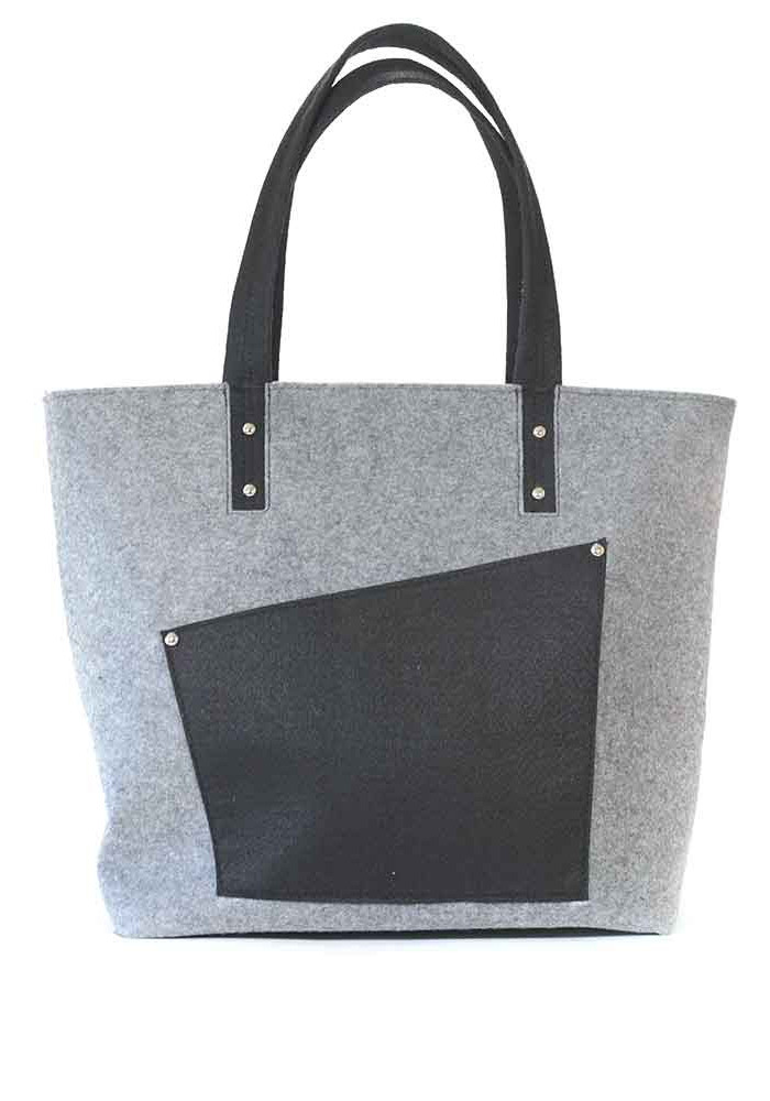 Фото Тканевая женская сумка с карманом 180-300-2
