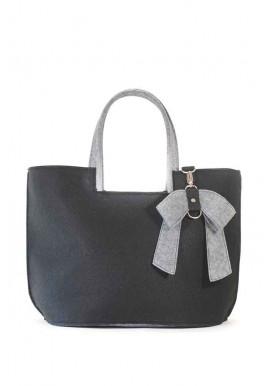 Фото Женская сумка из войлока с бантиком 48-BLK-970