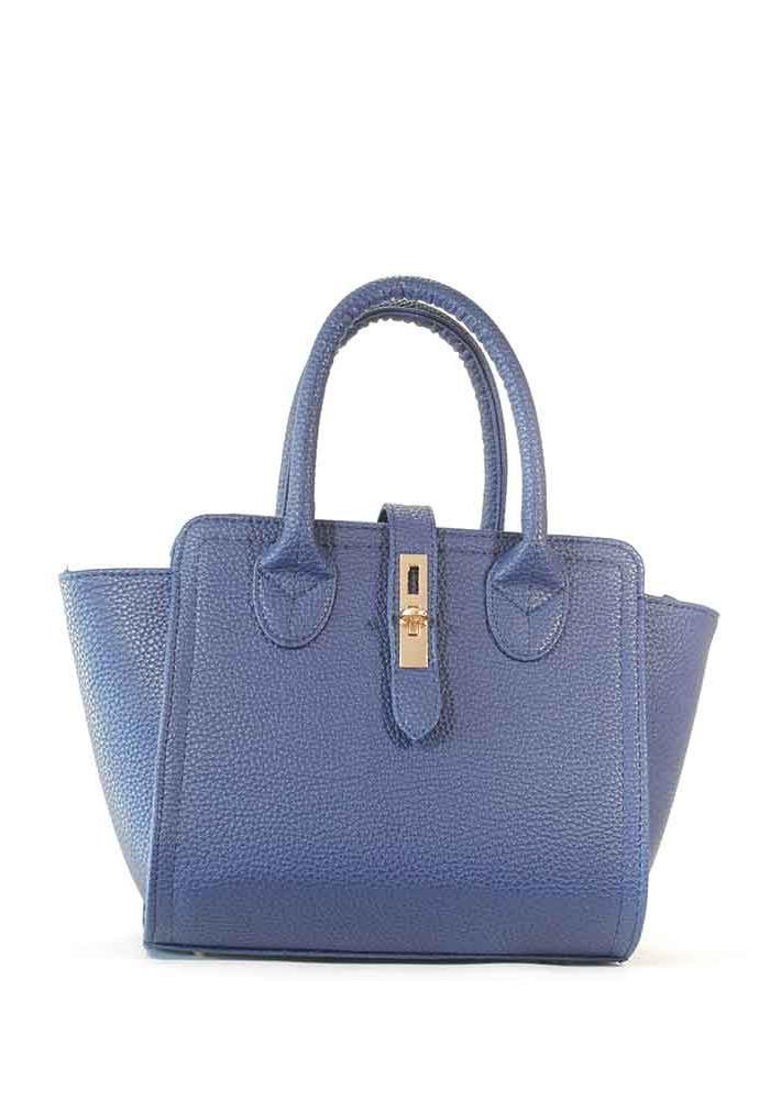 Фото Элегантная матовая синяя женская сумка 500-blue