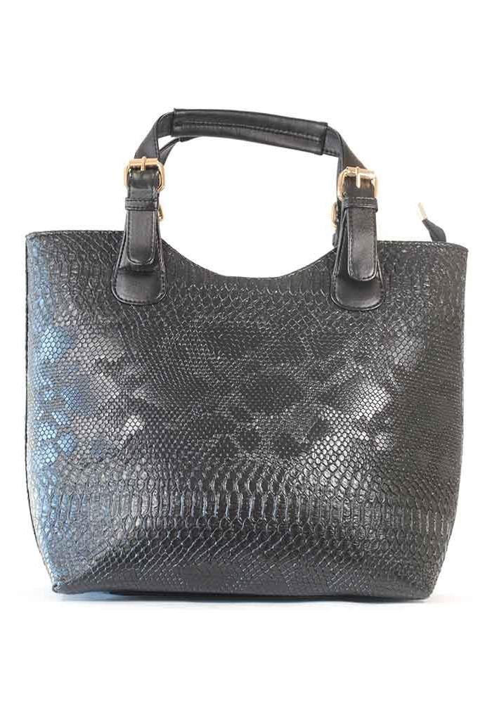 Фото Женская сумка шопер черный дракон 48-DRACON