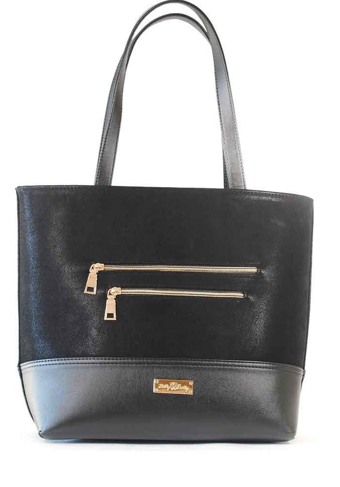 Велюровая женская сумка с длинными ручками 611-VELUR