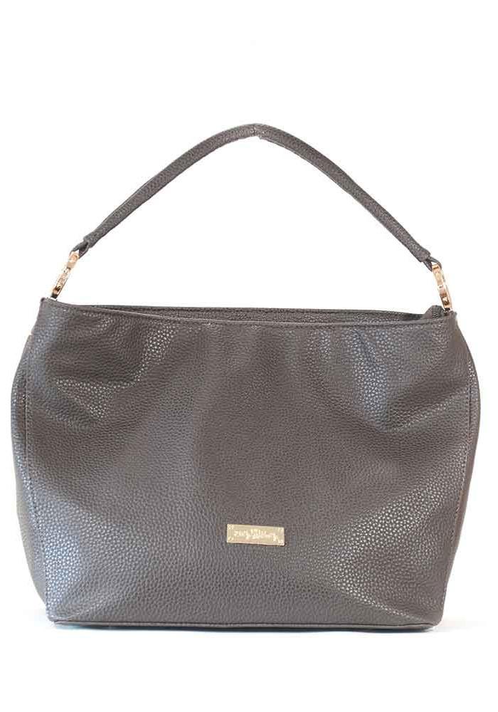 Мягкая коричневая матовая женская сумка 62-BROWN