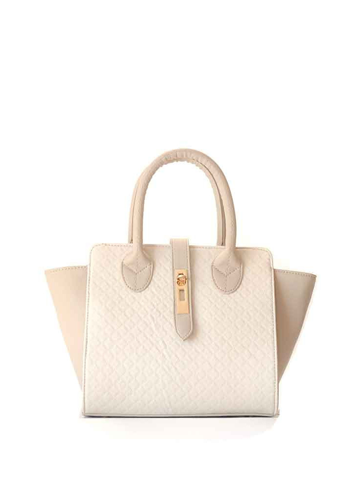 Бежевая маленькая женская сумка 500-Е1292
