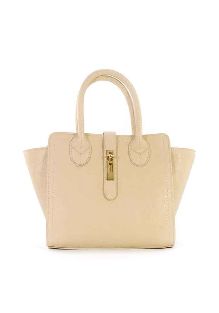 Бежевая женская сумка маленького размера 500-1102