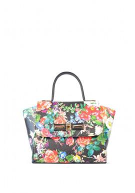 Фото Женская маленькая сумка с красными цветами 52-1212