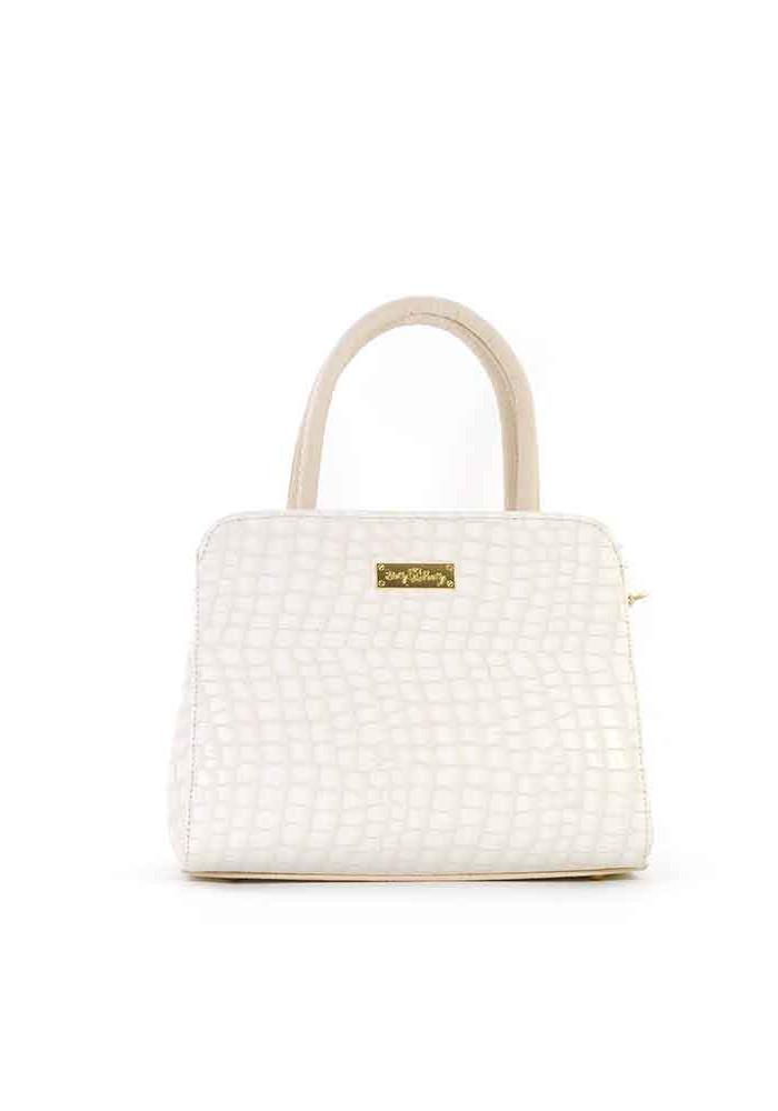 Маленькая бежевая женская сумка Betty Pretty 03N-CROCO-BEZH