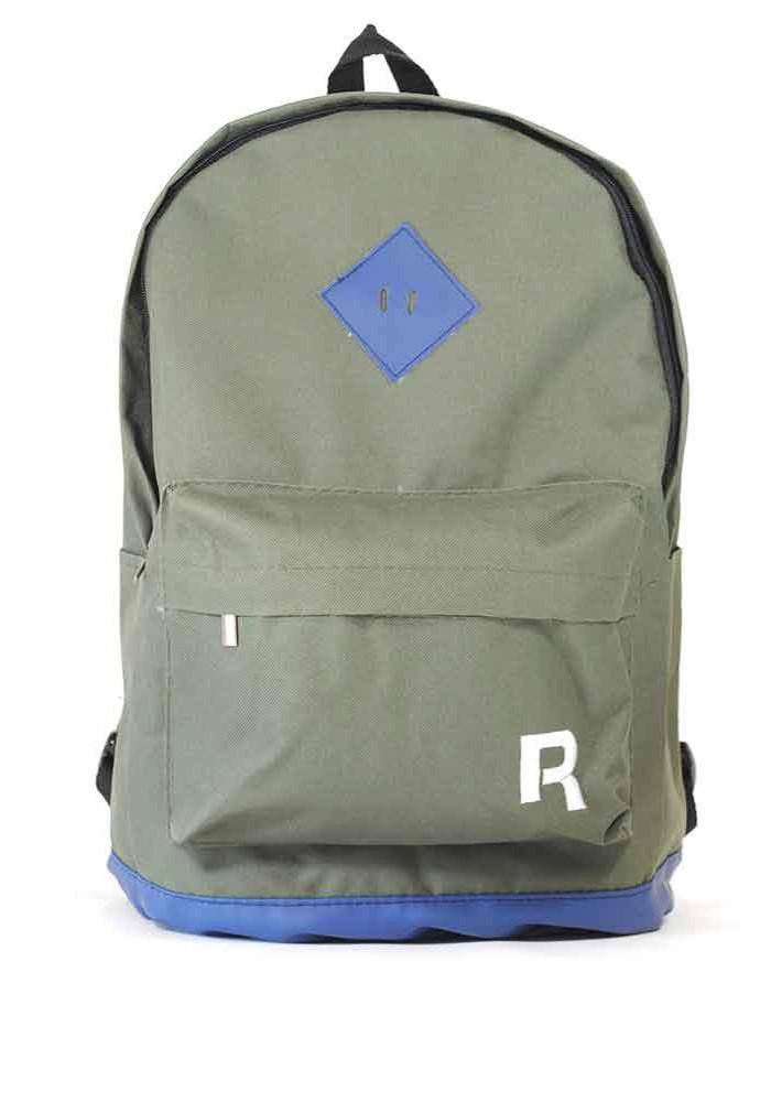 Зеленый спортивный городской рюкзак R-15