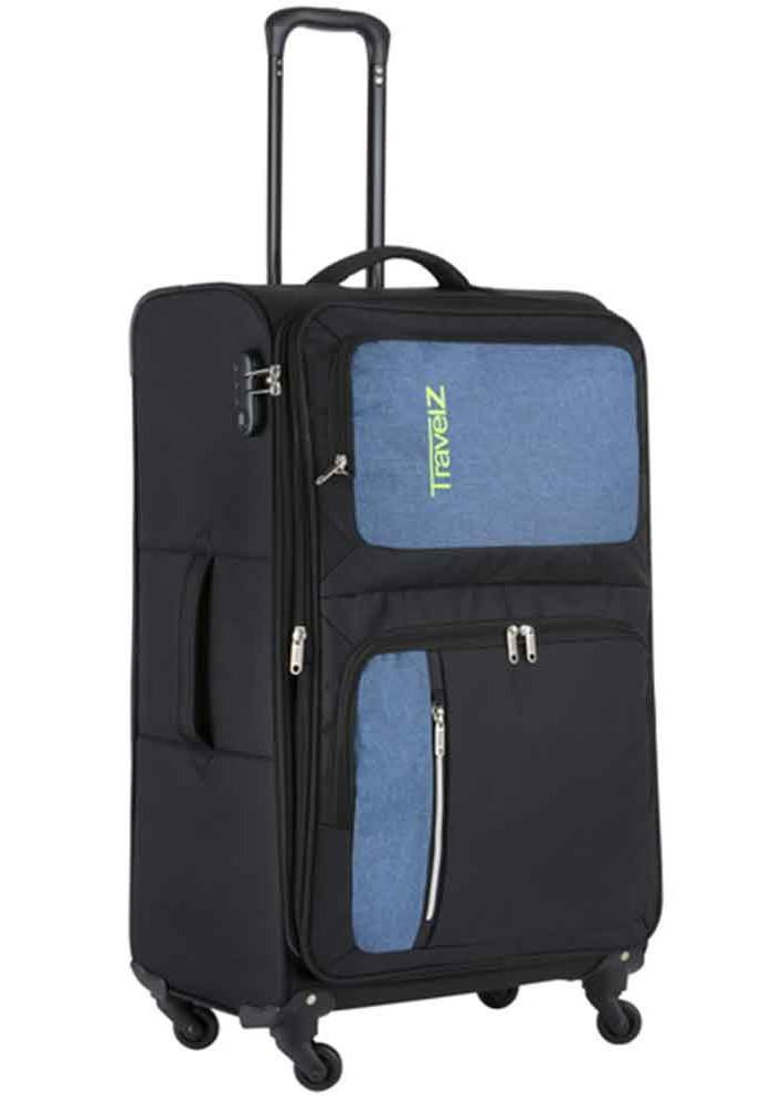 Фото Чемодан с колесами тканевый TravelZ Triple Pocket L Black