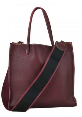 Фото Сумка в сумке женская кожаная Riche 6204B Bordo