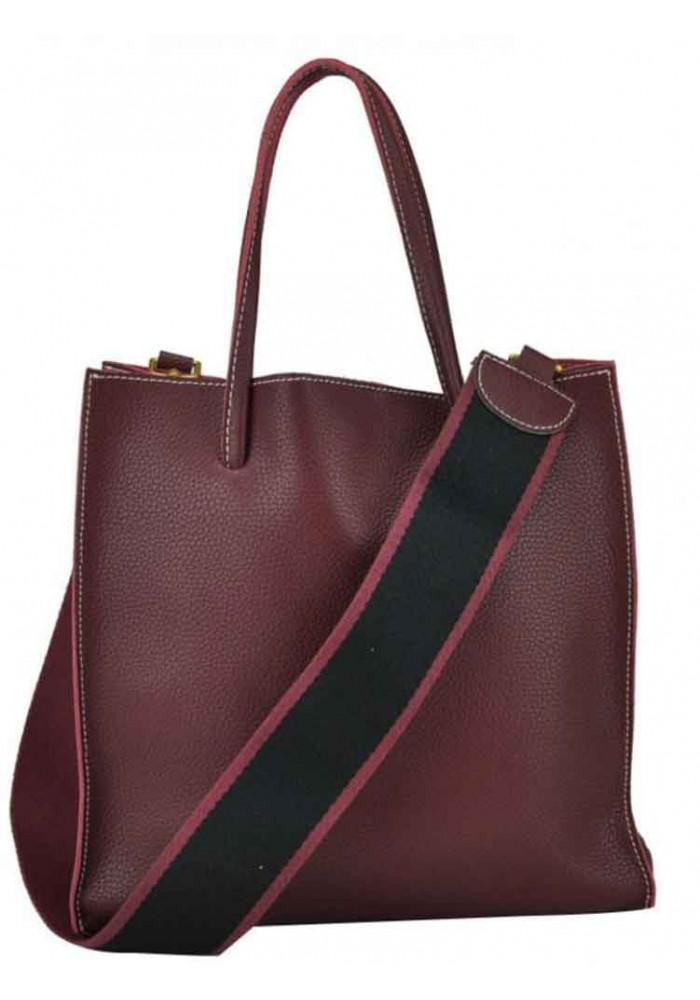 Сумка в сумке женская кожаная Riche 6204B Bordo