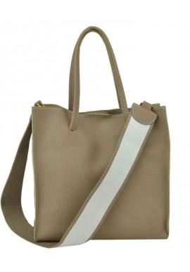 Фото Сумка в сумке женская кожаная Riche 6204BG бежевая