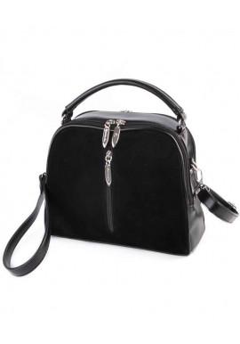 Фото Женская сумочка Камелия М234-33 замшевая черная