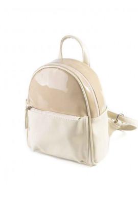 Фото Женский рюкзак М124-82-77 Камелия бело-бежевый