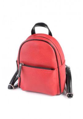 Фото Женский рюкзак М124-68-Z Камелия красно-черный