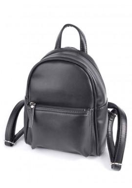 Фото Женский рюкзак Камелия М124-33 черный глянцевый