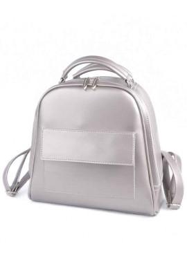 Фото Женский рюкзак-сумка Камелия М231-76 серебристая