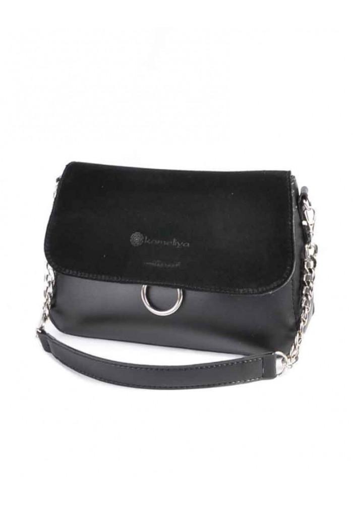 Фото Женская мини-сумочка с замшей М219-34 Камелия