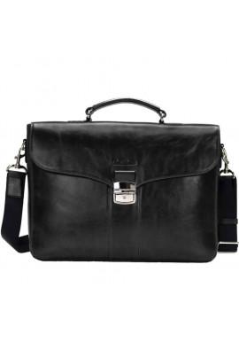 Фото Кожаный мужской портфель Issa Hara B35 Black GL