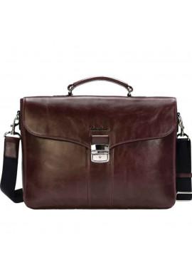 Фото Мужской портфель кожаный Issa Hara B35 Brown GL