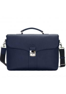Фото Мужской кожаный портфель Issa Hara B35 Blue