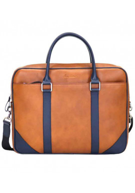Фото Мужская сумка кожаная Issa Hara B14 Redhead Blue
