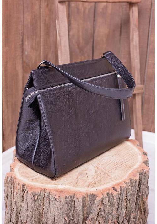 Черная кожаная женская сумка Lev Lubinin 91338