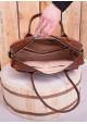 Коричневая кожаная женская сумка Lev Lubinin 91422