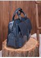 Изумрудная лаковая кожаная женская сумка Lev Lubinin 91365, фото №2 - интернет магазин stunner.com.ua