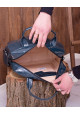 Изумрудная лаковая кожаная женская сумка Lev Lubinin 91365, фото №3 - интернет магазин stunner.com.ua