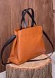 Рыжая кожаная женская сумка Lev Lubinin 91396