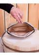 Серебристый кожаный женский клатч Lev Lubinin 91419, фото №2 - интернет магазин stunner.com.ua