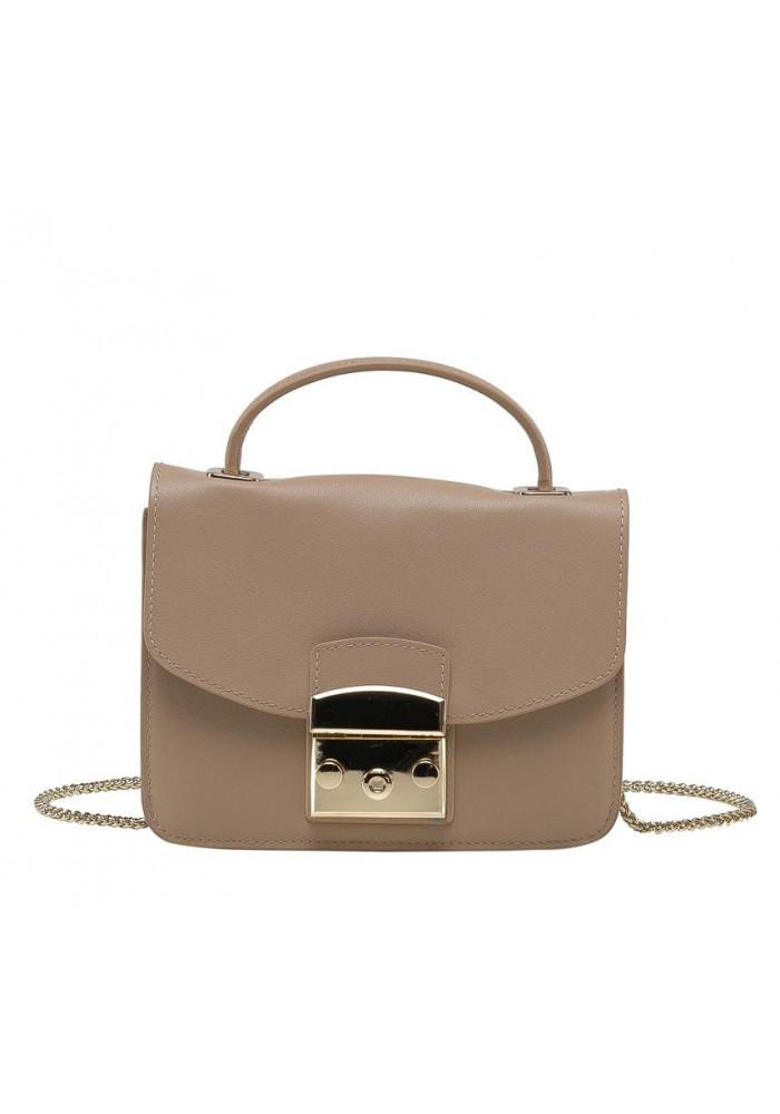 Фото Женская кожаная сумочка KARFEI Beige