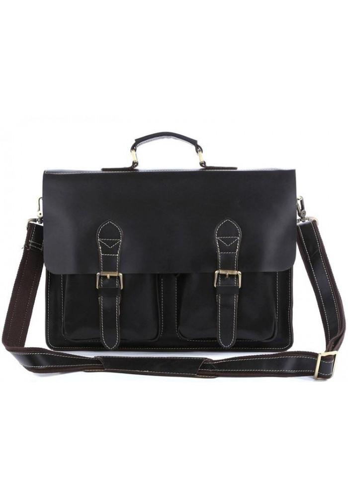 Фото Мужской кожаный портфель Tiding Bag 7105A