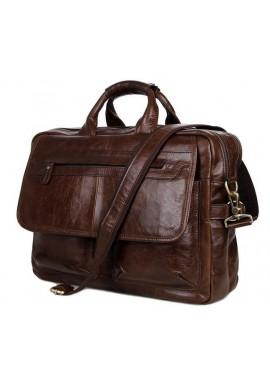 Фото Мужская кожаная сумка Tiding Bag 7085C