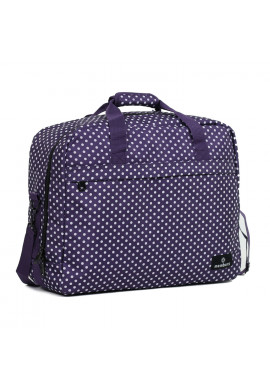 Фото Сумка дорожная Members Essential On-Board Travel Bag 40 Purple Polka