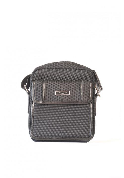 Маленькая мужская сумка через плечо POLO с карманом
