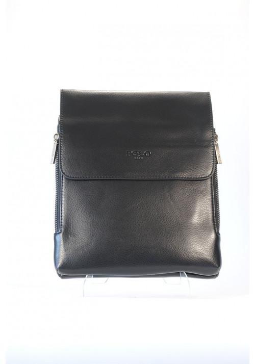 Средняя мужская сумка через плечо POLO с расширяющимся карманом