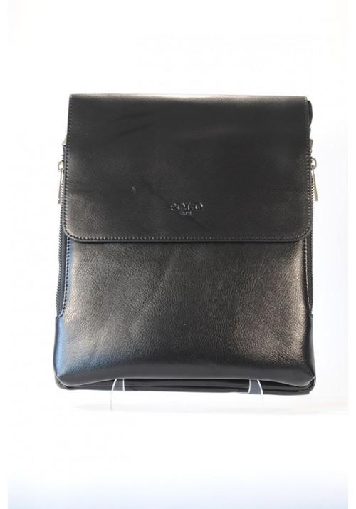Большая мужская сумка через плечо POLO с расширяющимся карманом
