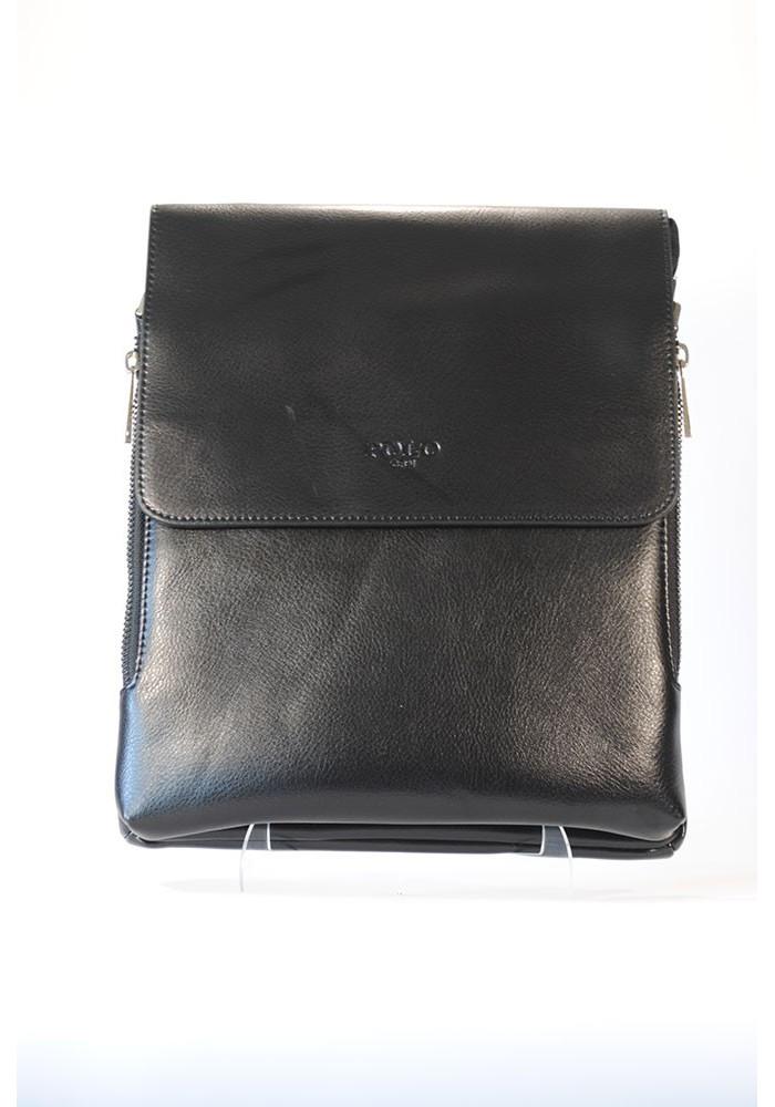 Большая мужская сумка через плечо POLO с разширяющимся карманом