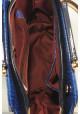 Элегантная лаковая синяя женская сумка