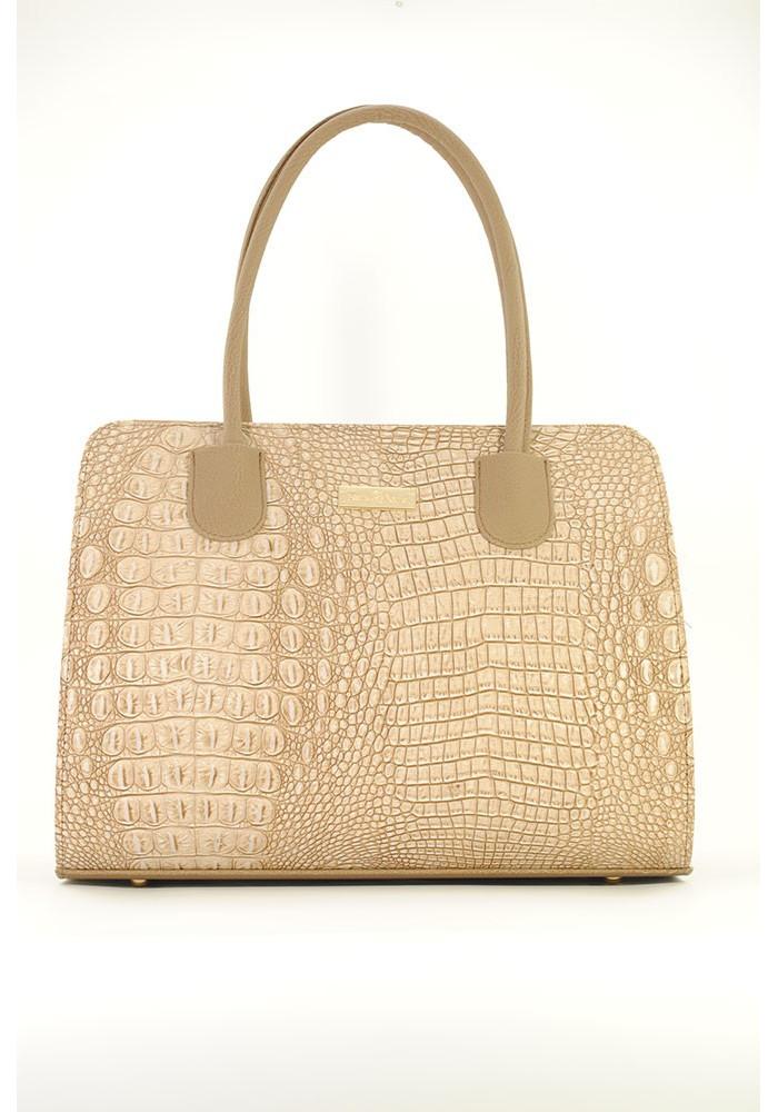 Бежевая женская каркасная сумка Betty Pretty 95-1371