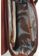 Бордовая модная женская сумка с клапаном