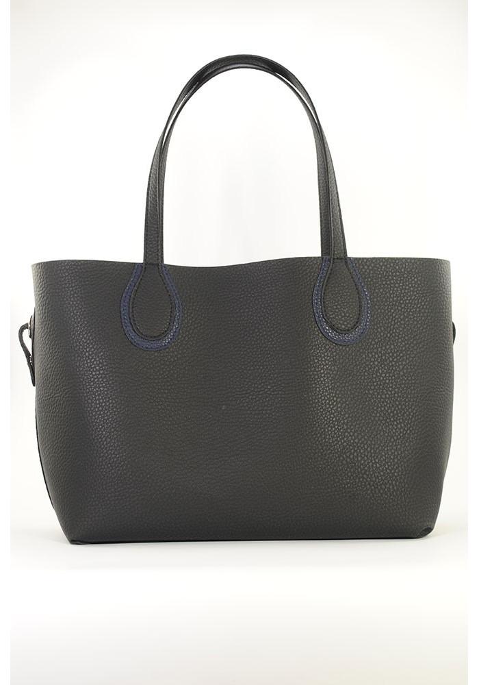 Черная женская сумка шопер Berry Pretty сумка в сумке 69
