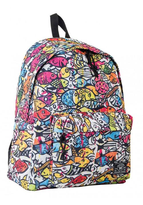 Рюкзак молодежный с рыбками