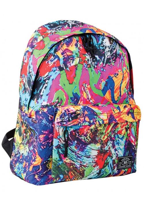 Рюкзак молодежный с ярким абстрактным принтом