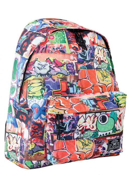 Рюкзак молодежный с разноцветным принтом