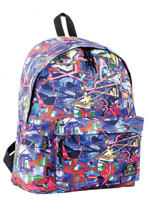 Рюкзак молодежный с абстрактным принтом