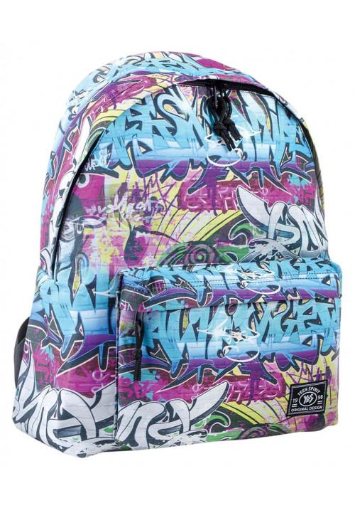 Рюкзак молодежный c принтом граффити
